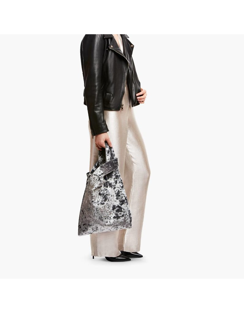 Hayward HL- H Shopper- Silver Crushed Velvet