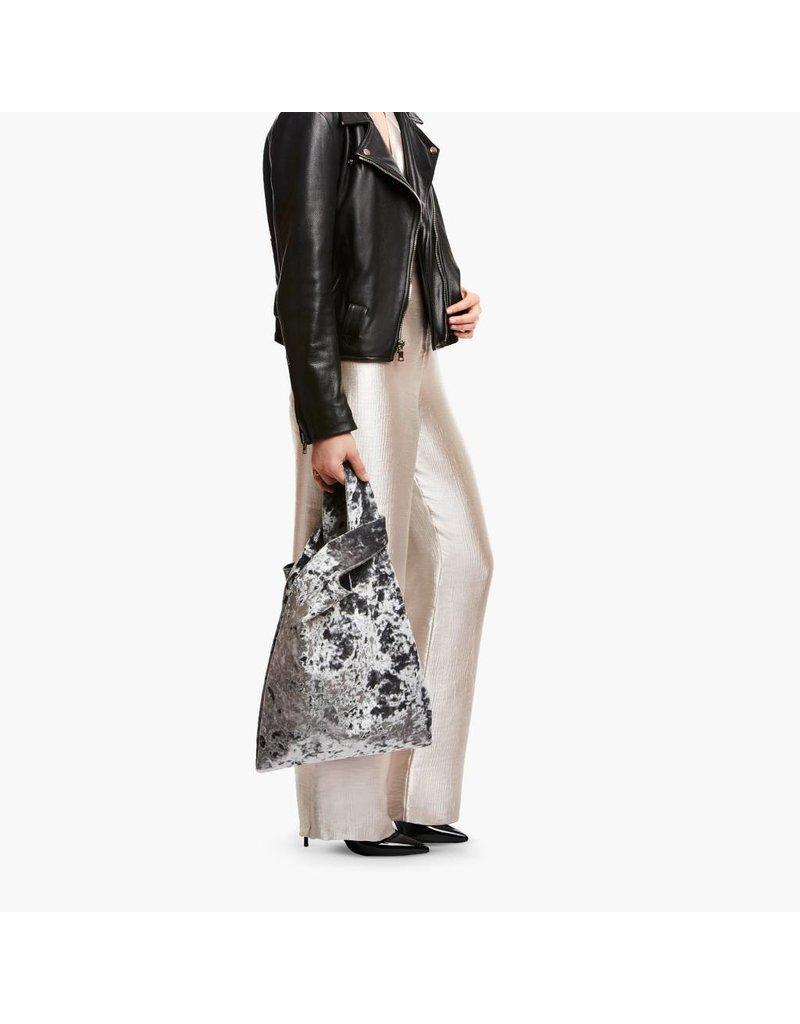 Hayward Shopper- Silver Crushed Velvet