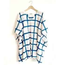 Flats Windowpane Short Shibori Caftan