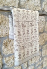 Himalayan Cashmere Company HCC- Fine Twill Topiary - Ivory/Pearl