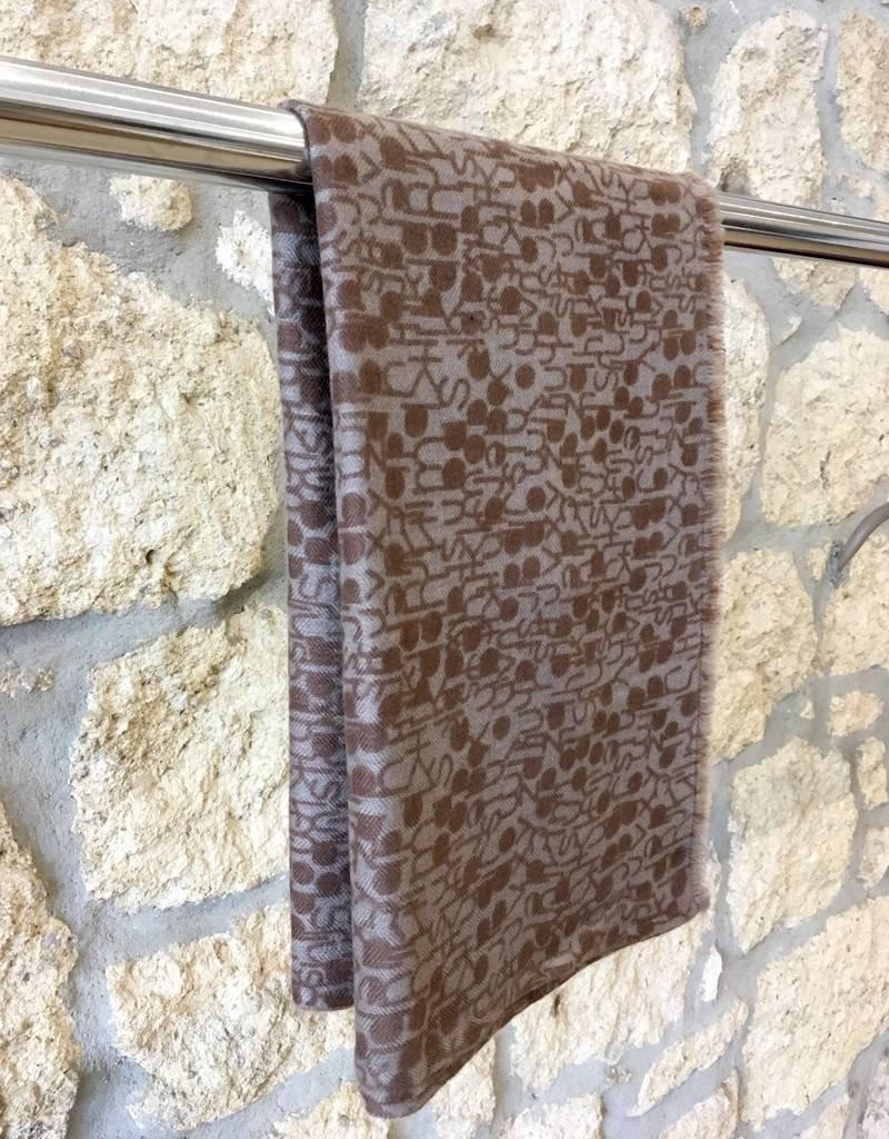 Himalayan Cashmere Company HCC- Fine Herringbone Letter - Silver/Bark