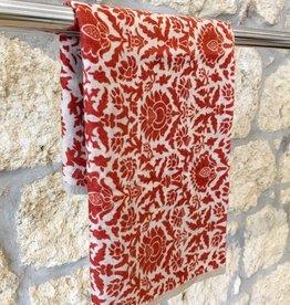Himalayan Cashmere Company HCC- Fine Twill Medici - Ivory/Orange