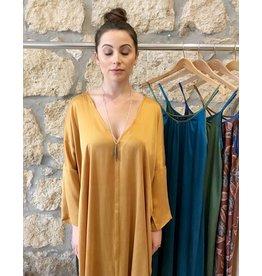 Anna Von Hellens AVH- Long Bombay Tunic Stone Washed Silk