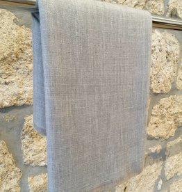 Himalayan Cashmere Company HCC-06- Irregular Basket weave- Natural Grey/Charcoal