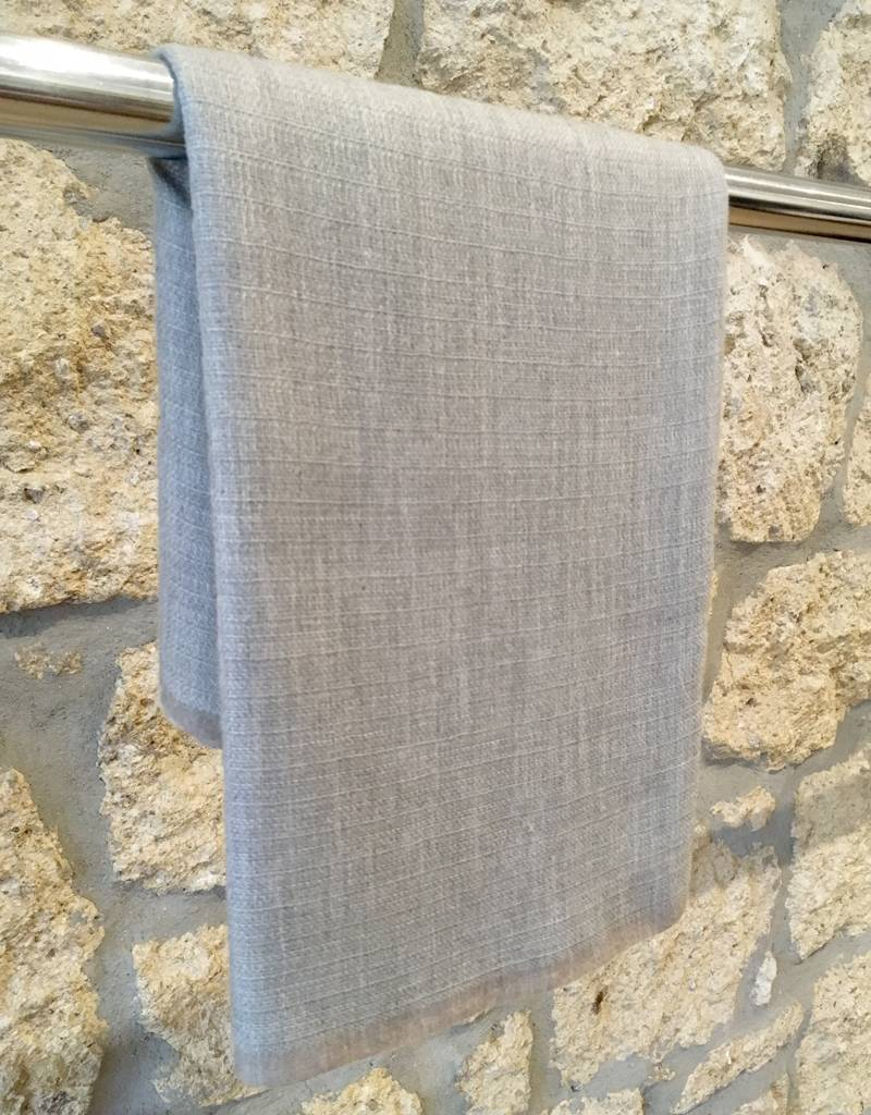 Himalayan Cashmere Company HCC-06- Irregular Basket weave- Natural Grey/Charcoal