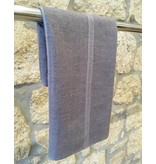 Himalayan Cashmere Company HCC-02- Ethnic Weave- Natural Grey/Purple