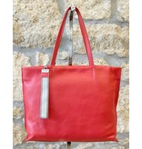 Gianni Chiarini GC- 5003- Tote Bag w/ Strap Orange/Red