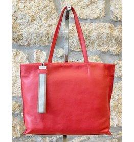 Gianni Chiarini GC- 5003- Tote Bag w/ Strap Orange/Red
