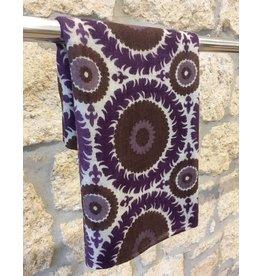 Himalayan Cashmere Company HCC- Fine Twill Suzani Slate/Violet