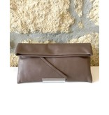 Gianni Chiarini GC-5235- Leather Clutch Mid Brown