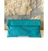 Gianni Chiarini GC-5235-SS16- Leather Clutch Turquoise