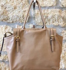 Gianni Chiarini GC- 4986- Tote Bag with Fastens- Camel