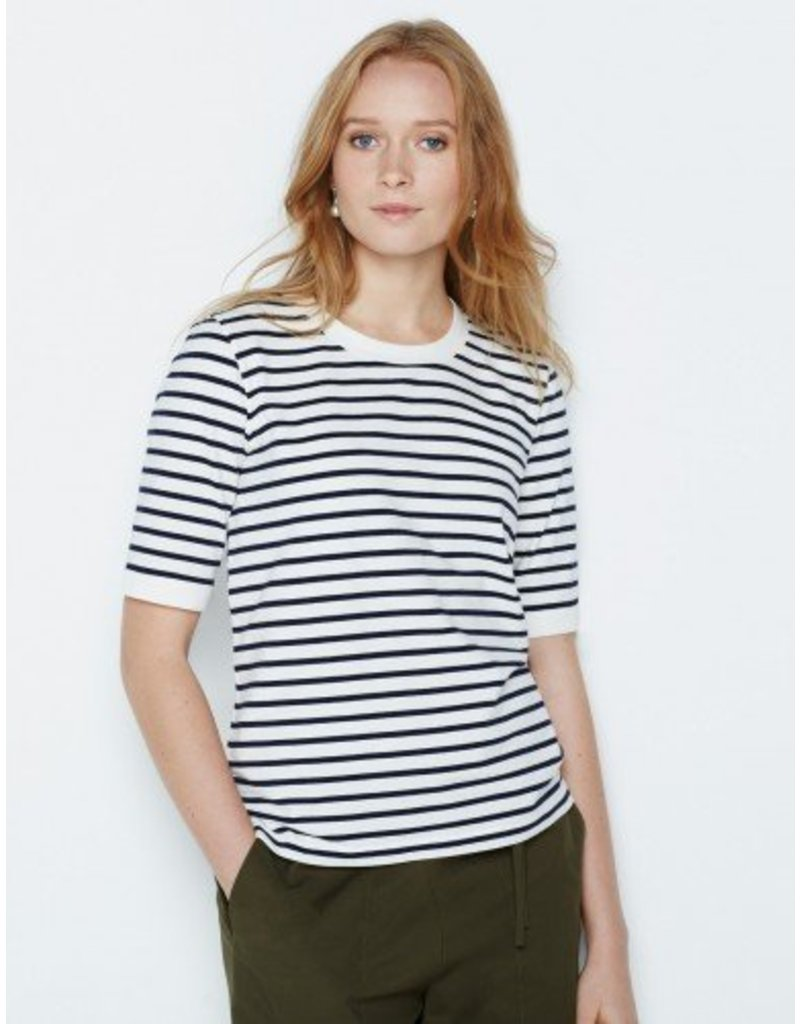 Winser London WL- Cotton Short Sleeve Striped Top