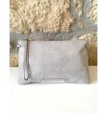 Gianni Chiarini GC- 3695- Flat Crossbody White Silver