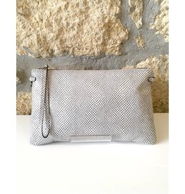 Gianni Chiarini GC- 3695- Flat Crossbody White Silver