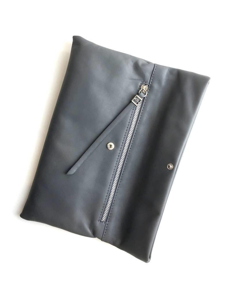 Gianni Chiarini GC-5235- Leather Clutch Mid Brown