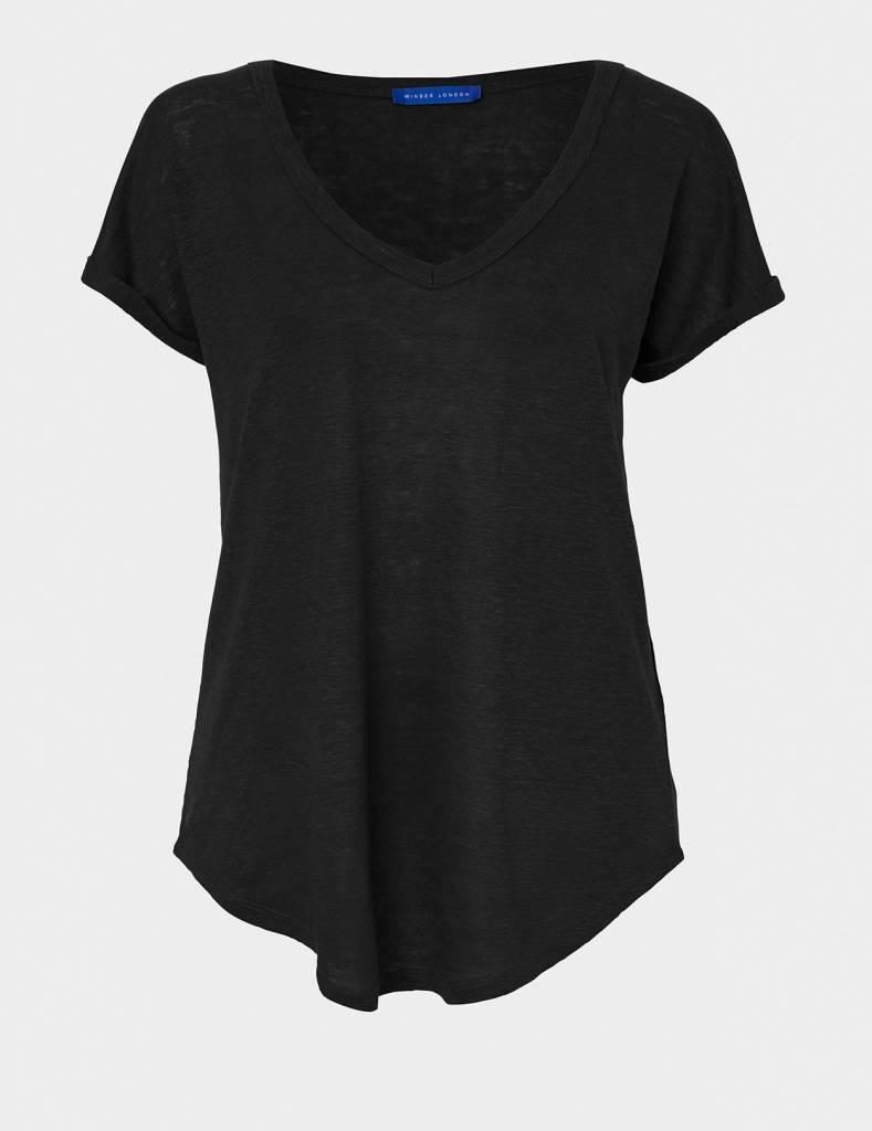 Winser London WL- Pure Linen T-Shirt