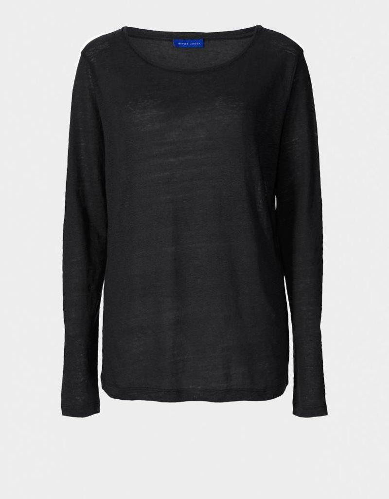 Winser London WL- Pure Linen Long Sleeve T Shirt