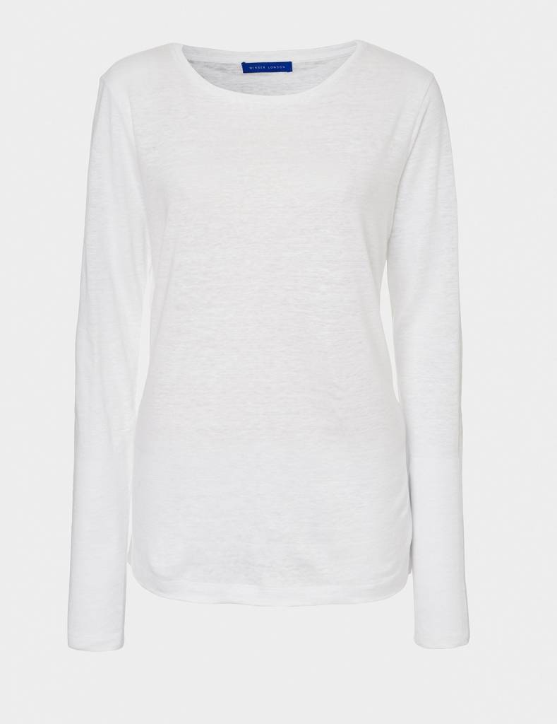 Winser London WL- Pure Linen Long Sleeve T Shirt