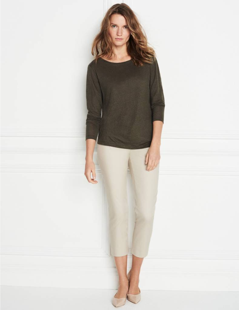 Winser London WL-Cotton Twill Capri Trouser