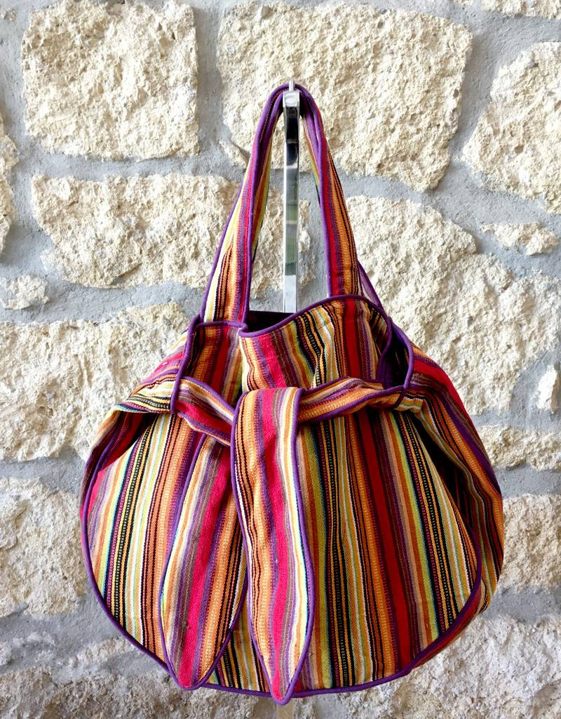 Flats Striped Sac Multi