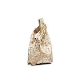 Hayward Mini Shopper- Crushed Velvet Gold