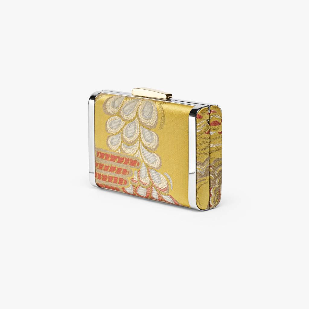 Hayward Box Clutch- Venetian Silk Brocade Gold