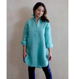 Flats Swiss Shirt Linen - SS17 Turquoise