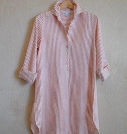 Flats Swiss Shirt Linen - SS17 Red/White Stripe