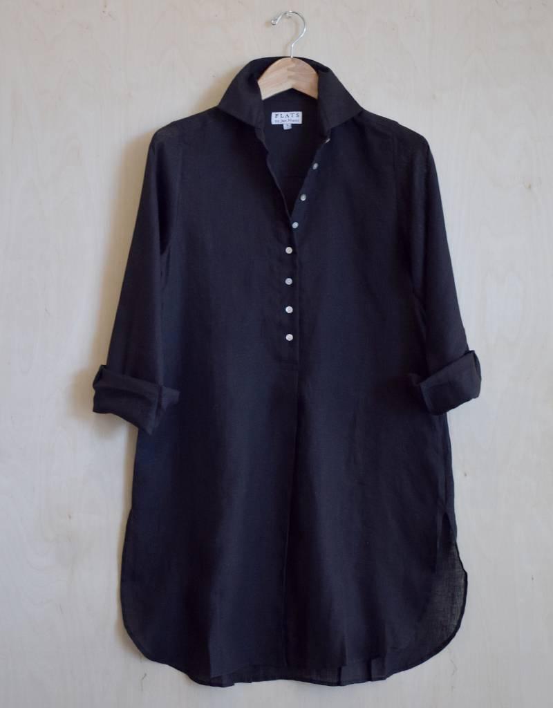 Flats Swiss Shirt Linen - SS17 Black