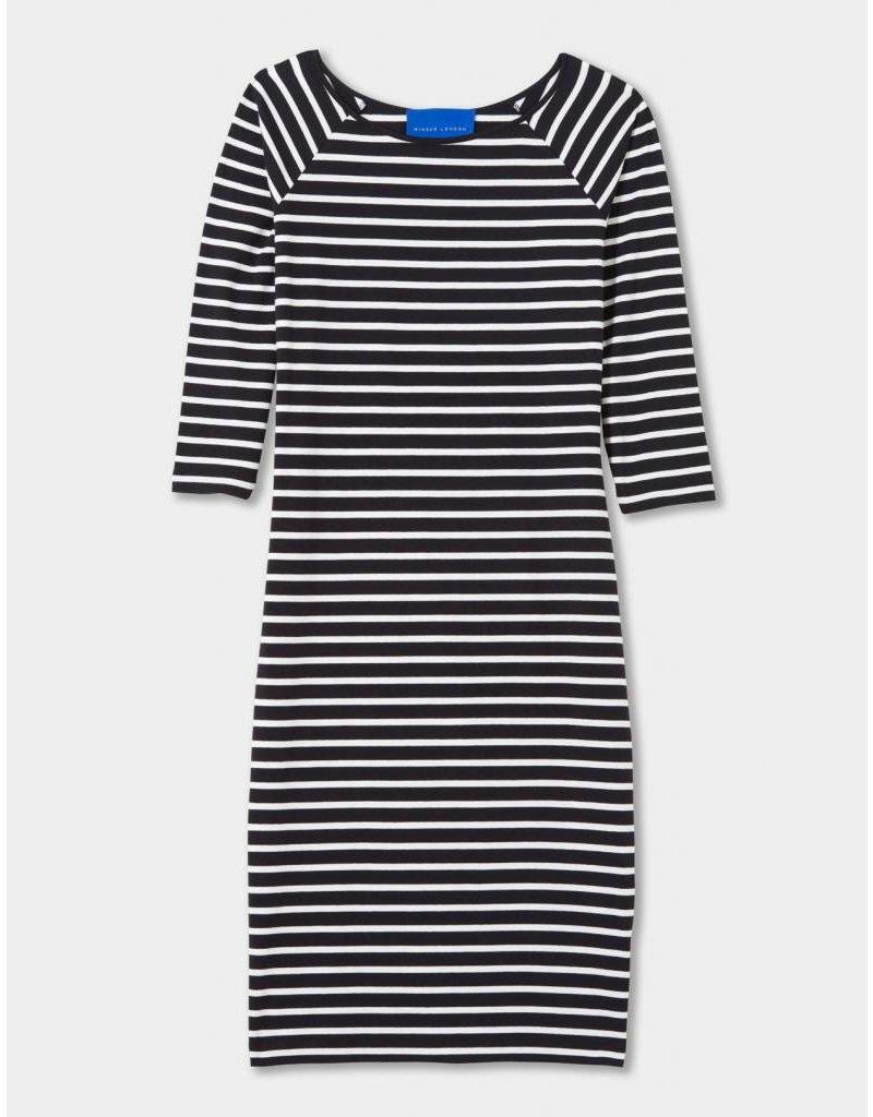 Winser London WL- Cotton Jersey Striped Dress