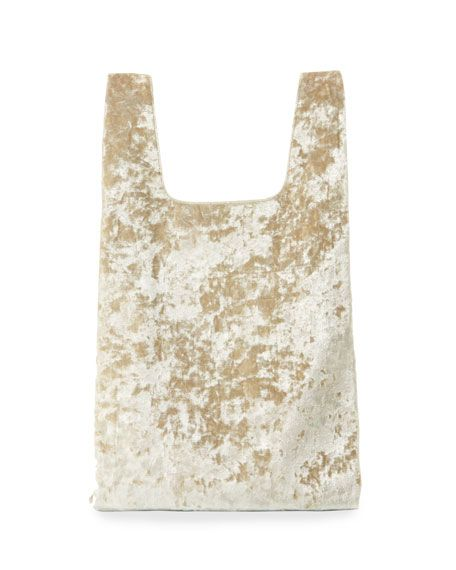 Hayward H Shopper- Gold Crushed Velvet
