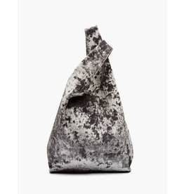 Hayward Shopper- Silver Crushed Velvet