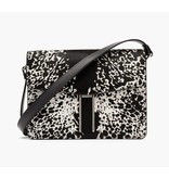 Hayward H Crossbody- Black/White Pony