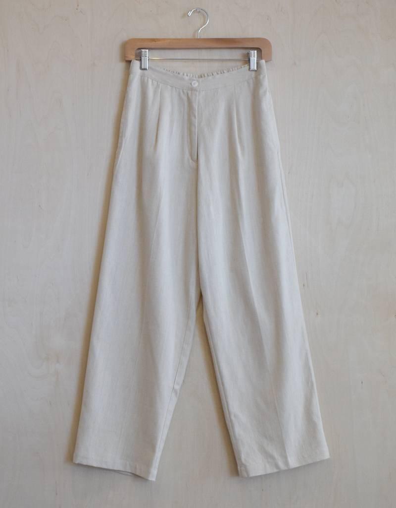 Flats Roma Pant Cotton Chambray