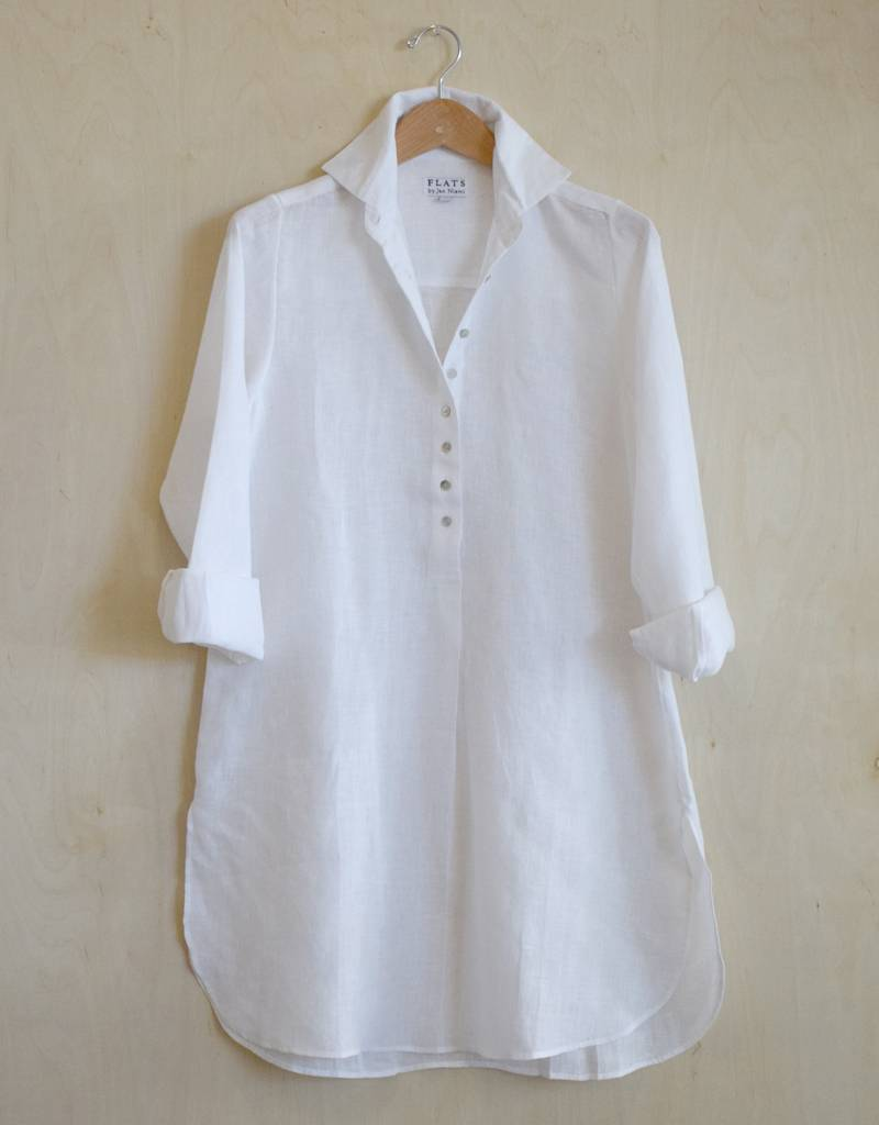 Flats Swiss Shirt Linen - SS17 White