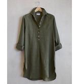 Flats Swiss Shirt Linen - SS17 Khaki