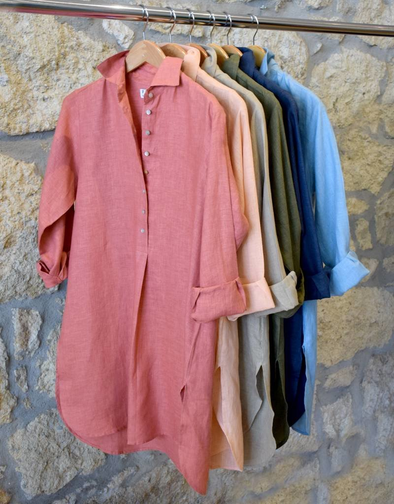 Flats Swiss Shirt Linen - SS17 Marina Blue