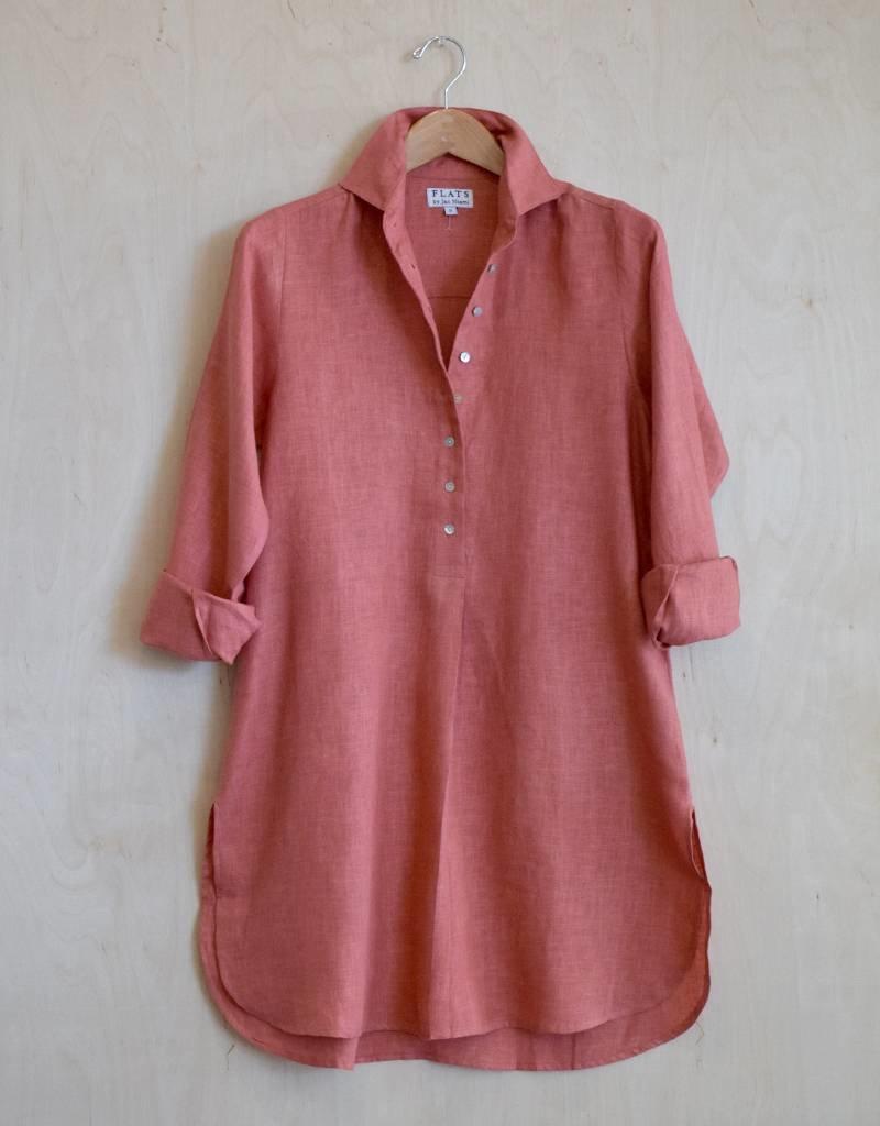 Flats Swiss Shirt Linen - SS17 Clay