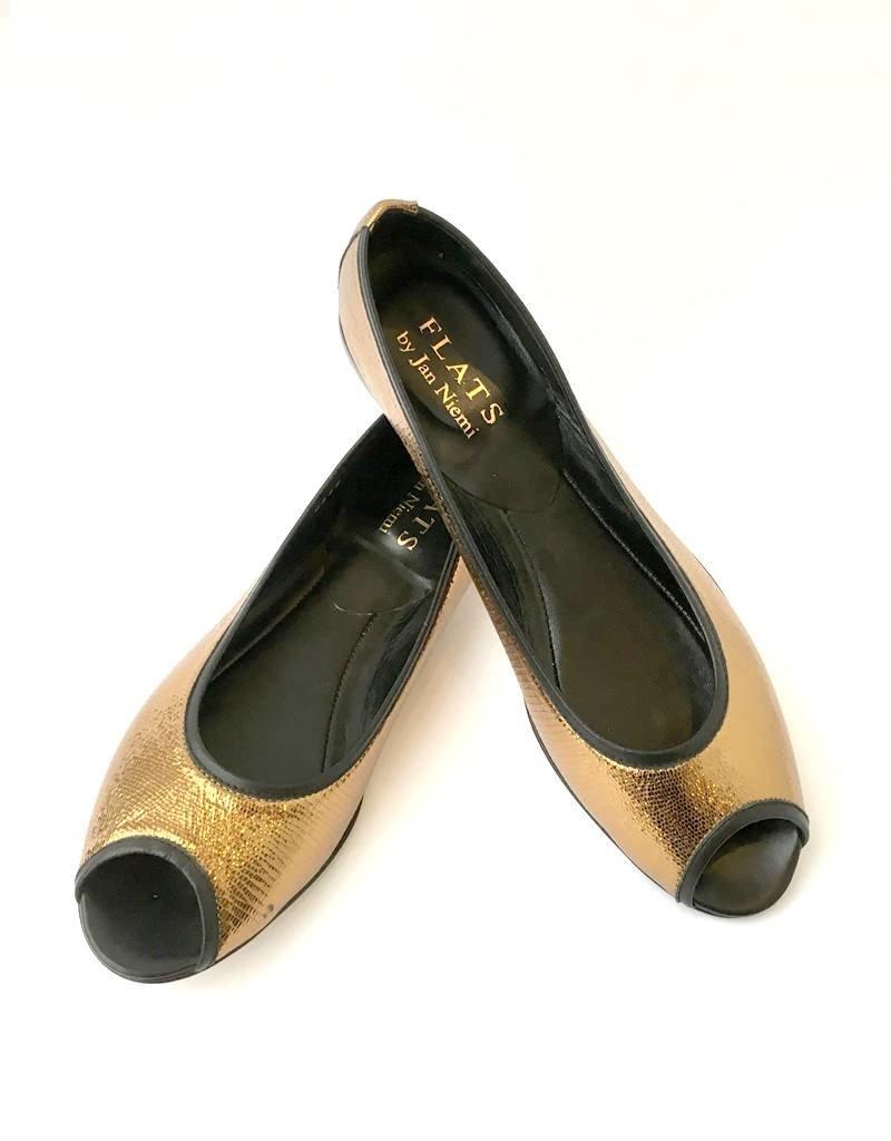 Flats Ballerina- Open Toe Bronze