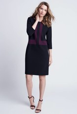 Winser London WL-Crepe Jersey Color Block Shift Dress