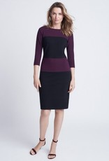 Winser London WL-Crepe Jersey Color Block Fitted Shift Dress