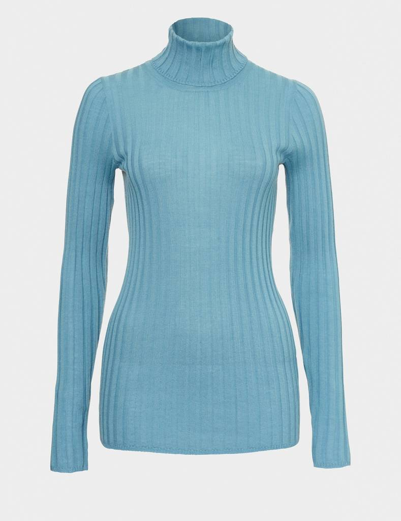 Winser London WL-Merino Wool Polo Neck Jumper