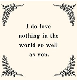 SugarBoo Designs I Do Love Nothing In The World Notecard