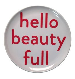 SugarBoo Designs Plate - Hello Beauty Full, Set/4
