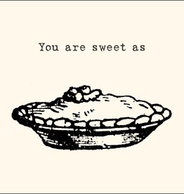 SugarBoo Designs Sweet As Pie Notecard
