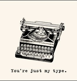 SugarBoo Designs You're Just My Type Notecard