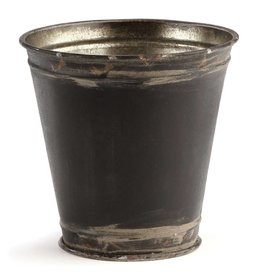 "Napa Home and Garden Paris 5"" Flower Pot, Rusted Blk"