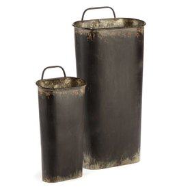 Napa Home and Garden Paris Demi Buckets, Rusted Blk, Lg