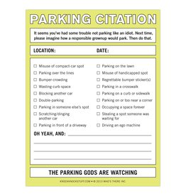 Knock Knock Nifty Notes: Parking Citation